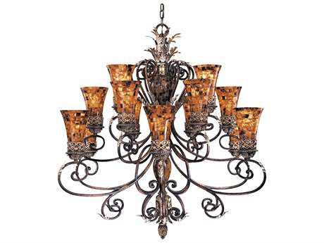 Metropolitan Lighting Salamanca Cattera Bronze 15-Lights 48'' Wide Grand Chandelier