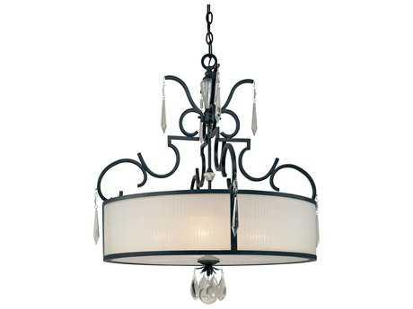 Metropolitan Lighting Castellina Castellina Aged Iron Four-Lights 33'' Wide Pendant Light