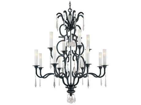 Metropolitan Lighting Castellina Castellina Aged Iron 12-Lights 43'' Wide Grand Chandelier