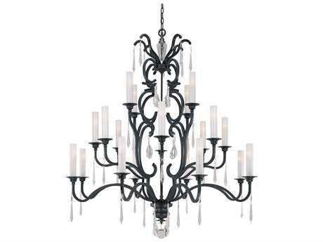 Metropolitan Lighting Castellina Castellina Aged Iron 20-Lights 56'' Wide Grand Chandelier