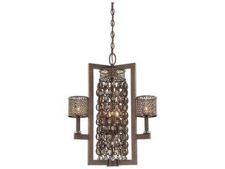 Metropolitan Lighting Ajourer French Bronze Six-Lights 22'' Wide Pendant Light