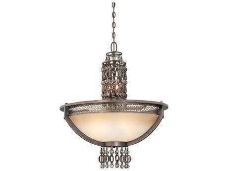 Metropolitan Lighting Ajourer French Bronze Three-Lights 26.5'' Wide Pendant Light