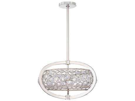 Metropolitan Lighting Magique Polished Nickel Five-Lights 20.5'' Wide Pendant Light