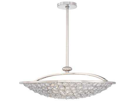Metropolitan Lighting Magique Polished Nickel Five-Lights 28'' Wide Pendant Light