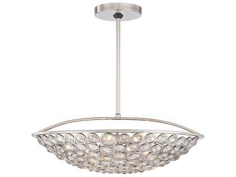 Metropolitan Lighting Magique Polished Nickel Five-Lights 21'' Wide Pendant Light