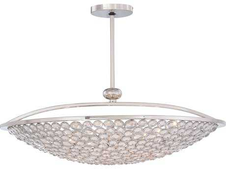 Metropolitan Lighting Magique Polished Nickel Ten-Lights 36'' Wide Pendant Light