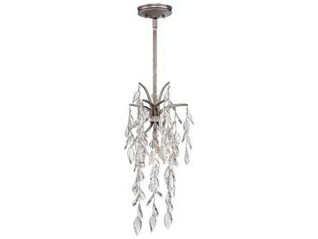 Metropolitan Lighting Bella Flora Silver Mist 10'' Wide Pendant Light