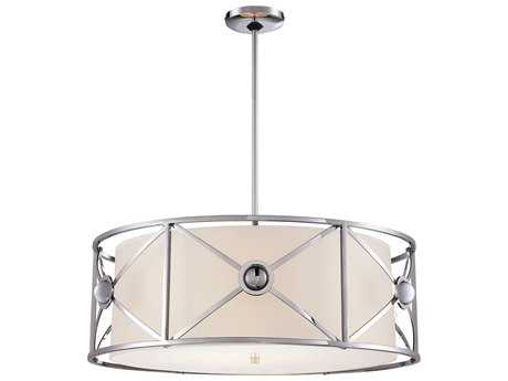 Metropolitan Lighting Fantasy Chrome Four-Lights 27'' Wide Pendant Light