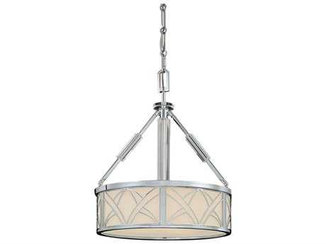 Metropolitan Lighting Storyboard Chrome Three-Lights 21'' Wide Pendant Light
