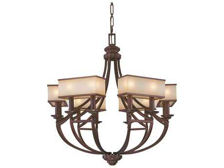 Metropolitan Lighting Underscore Cimarron Bronze 12-Lights 36.5'' Wide Chandelier