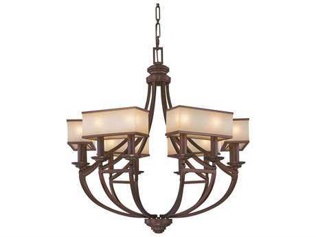 Metropolitan Lighting Underscore Cimarron Bronze 12-Lights 36.5'' Wide Chandelier