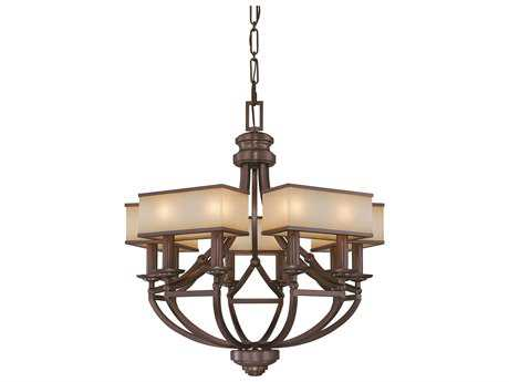 Metropolitan Lighting Underscore Cimarron Bronze Ten-Lights 28'' Wide Chandelier