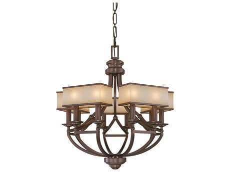 Metropolitan Lighting Underscore Cimarron Bronze Ten-Lights 28'' Wide Chandelier