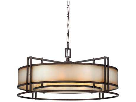 Metropolitan Lighting Underscore Cimarron Bronze Six-Lights 44'' Wide Pendant Light