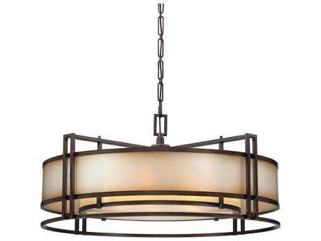 Metropolitan Lighting Underscore Cimarron Bronze Six-Lights 44'' Wide Pendant Light