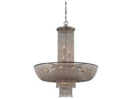 Metropolitan Lighting Shimmering Falls Antique Silver 18-Lights 31.5'' Wide Chandelier