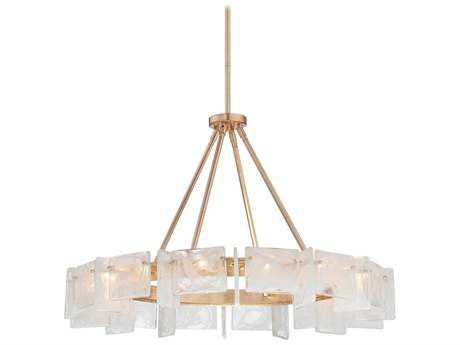 Metropolitan Lighting Arctic Frost Antique French Gold 14-Lights 35.5'' Wide Chandelier