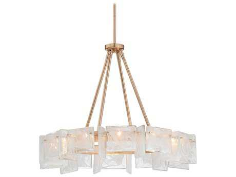 Metropolitan Lighting Arctic Frost Antique French Gold 12-Lights 30.5'' Wide Chandelier