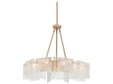 Metropolitan Lighting Arctic Frost Antique French Gold Nine-Lights 24'' Wide Chandelier