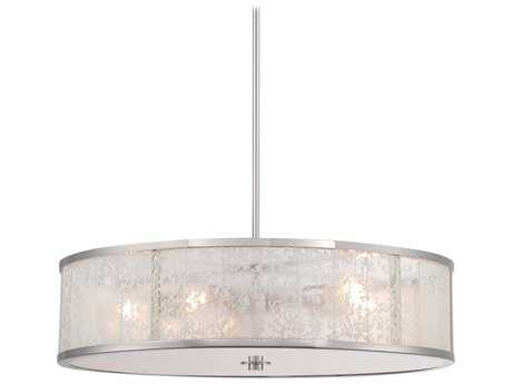 Metropolitan Lighting Lake Frost Polished Nickel Five-Lights 26'' Wide Pendant Light