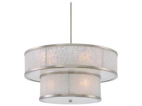 Metropolitan Lighting Lake Frost Polished Nickel Eight-Lights 26'' Wide Pendant Light