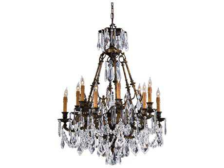 Metropolitan Lighting Vintage Oxidized Brass 12-Lights 35.5'' Wide Grand Chandelier