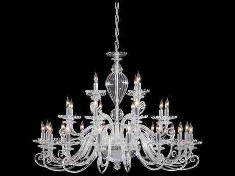 Metropolitan Lighting Chrome with Clear Glass 28-Lights 41'' Wide Grand Chandelier