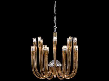 Metropolitan Lighting Chrome with Topaz Glass 16-Lights 21'' Wide Grand Chandelier