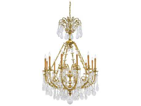 Metropolitan Lighting French Gold 12-Lights 38'' Wide Grand Chandelier