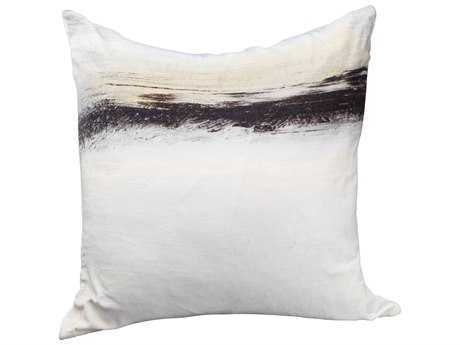 Moe's Home Collection Fog Velvet Cushion with Feather Insert