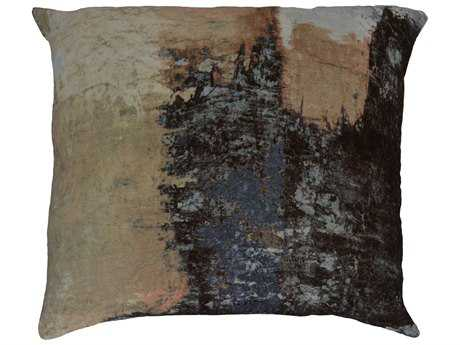 Moe's Home Collection Brushstrokes Velvet Cushion with Feather Insert