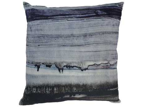 Moe's Home Collection Parallel Lines Velvet Cushion with Feather Insert
