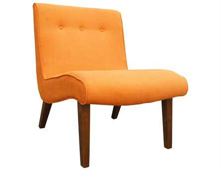 Moe's Home Collection Mancini Orange Lounge Chair (Sold in 2)