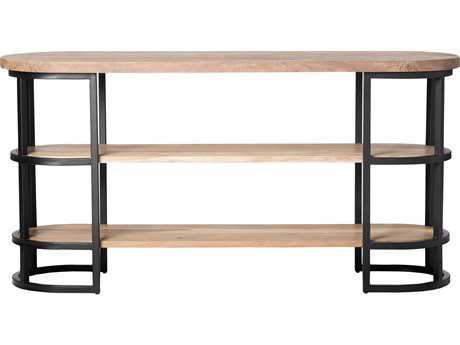 Moe's Home Collection Race 64'' x 18'' Oval Acacia Wood Console Table