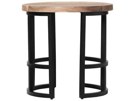 Moe's Home Collection Race 23'' Round Acacia Wood Side Table