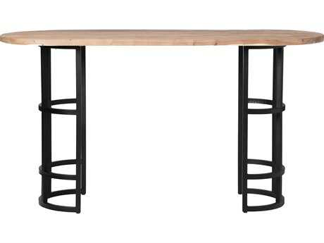 Moe's Home Collection Race 78'' x 28'' Oval Light brown Bar Dining Table