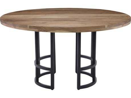 Moe's Home Collection Race 54'' Round Light brown Dining Table
