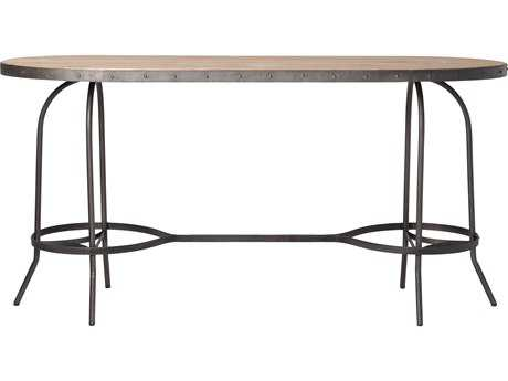 Moe's Home Collection New Solo 84'' x 24'' Oval Light Brown Bar Dining Table