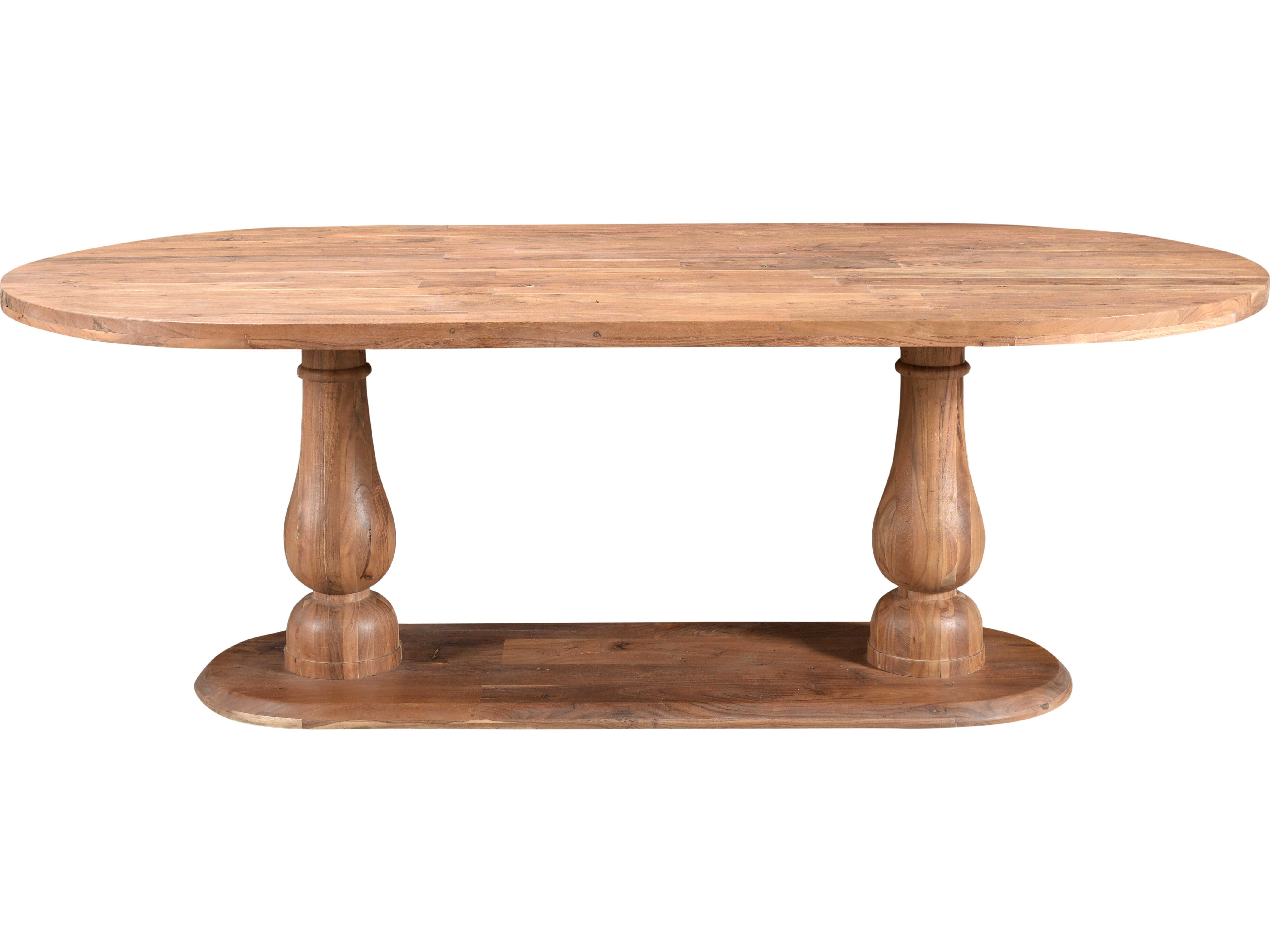 Milo 86 5 39 39 X 43 5 39 39 Oval Smoked Light Brown Dining Table