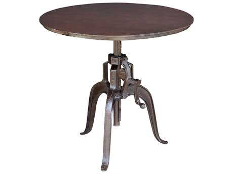 Moe's Home Collection Maison 35.5'' Round Crank Bar/Counter Height Table