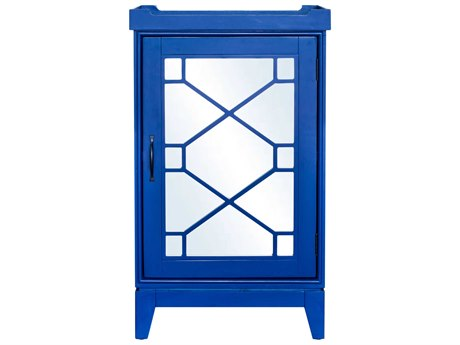 Moe's Home Collection Blue Indochine Blue Mini Bar Cabinet