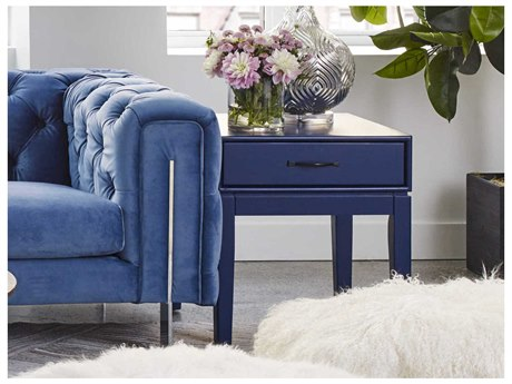 Moe's Home Collection Indochine Blue 21'' Square Side Table