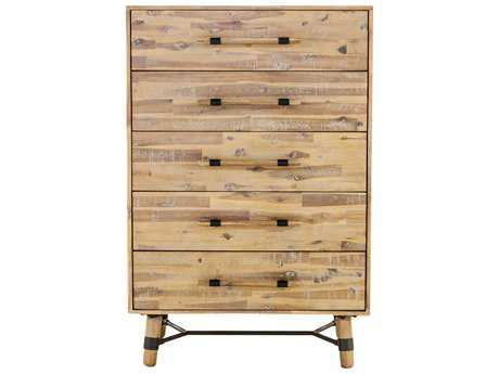 Moe's Home Collection Hudson Natural Five Drawer Chest