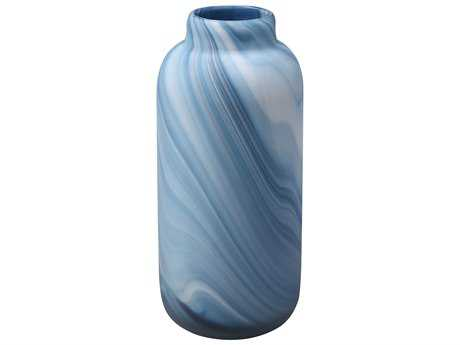 Moe's Home Collection Swirl Blue Vase