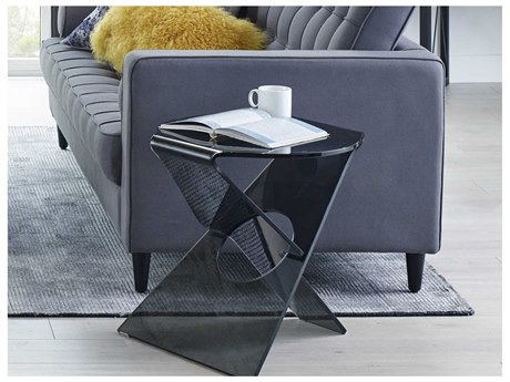 Moe's Home Collection Crystal Smoked 20'' Side Table