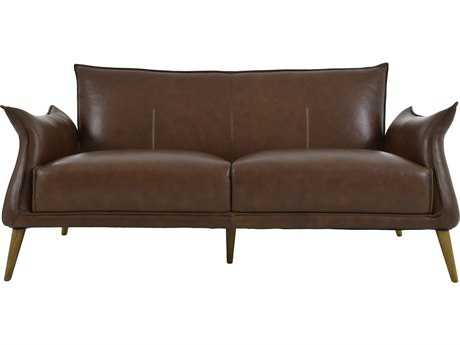 Moe's Home Collection Verona Brown Leather Sofa