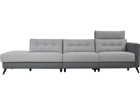 Moe's Home Collection Cortado Two-Tone Grey Motion Sofa