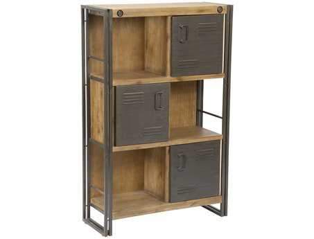 Moe's Home Collection Brooklyn Dark Brown Shelf with Doors