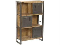 Moe's Home Collection Brooklyn Dark Brown Shelf with Doors
