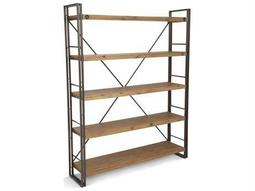 Moe's Home Collection Brooklyn 59 x 14 Brown Open Bookcase